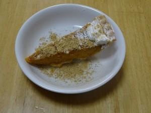 コストコ,ケーキ,パンプキンパイ,ハロウィン,かぼちゃ,黒ごまきな粉2
