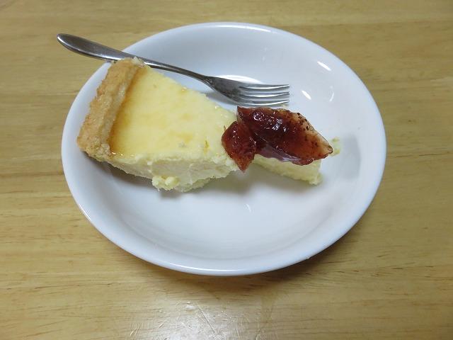 コストコ,トリプルチーズタルト,ケーキ,チーズケーキ,レビュー,評価,イチゴジャム2