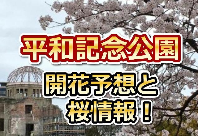 平和記念公園,広島,花見,2018,見頃,開花予想,穴場,桜