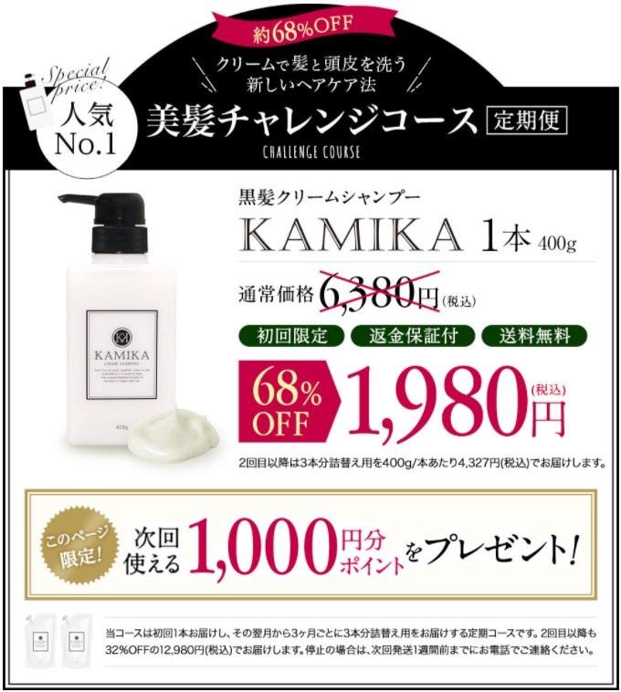 KAMIKA(カミカ)黒髪クリームシャンプー,販売店,実店舗,最安値,市販,取り扱い店