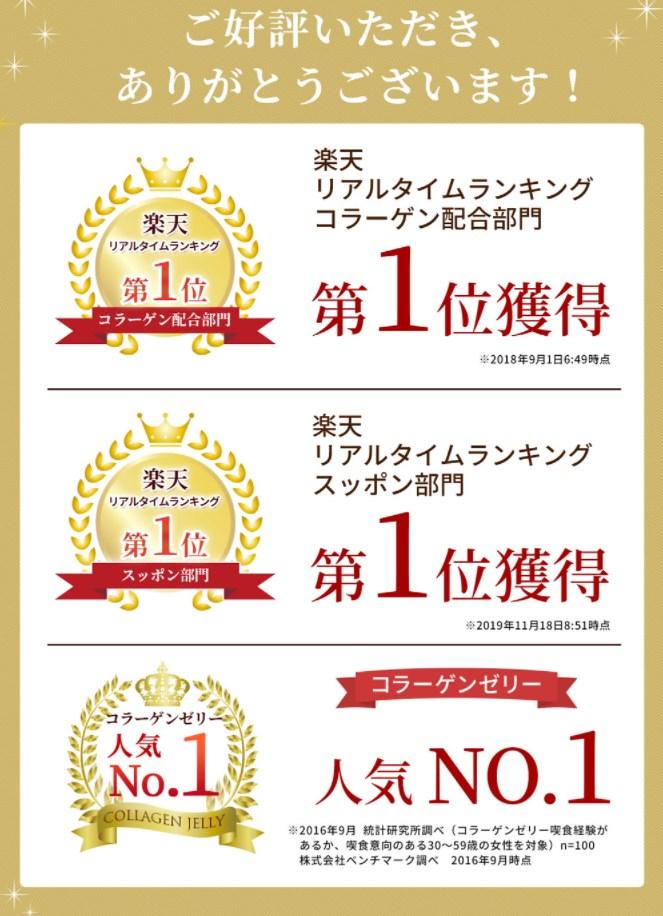 琉球すっぽんコラーゲンゼリー,受賞