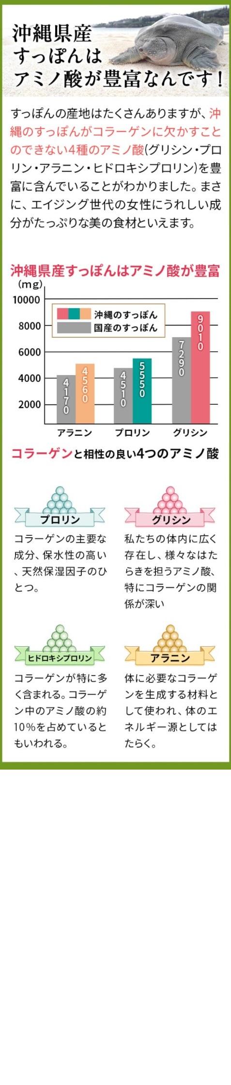琉球すっぽんコラーゲンゼリー,特徴,効果
