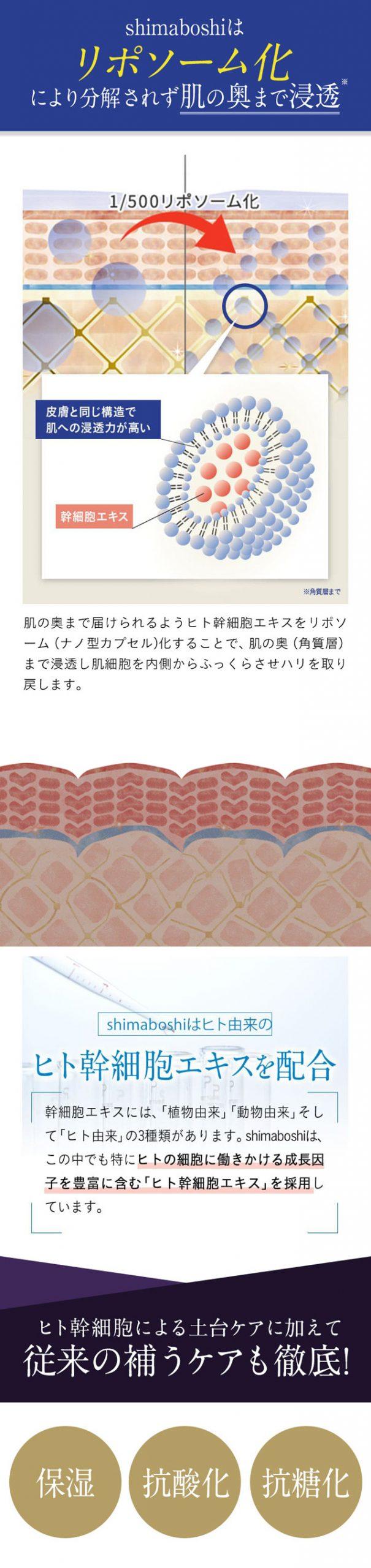 shimaboshi(シマボシ) レストレーションセラム,特徴,効果